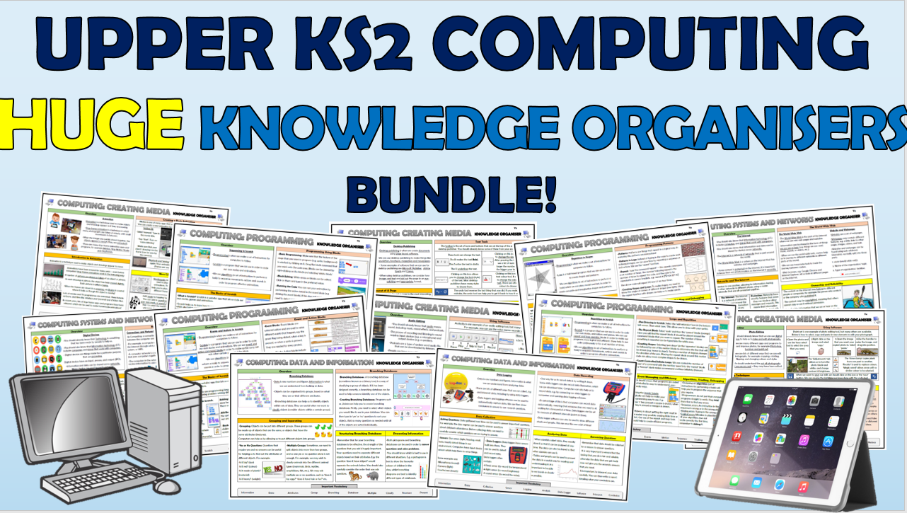 Upper KS2 Computing Huge Knowledge Organisers Bundle!