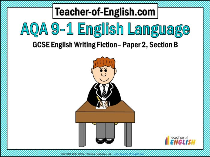 AQA 9-1 GCSE English Paper 2 Section B (PowerPoint and worksheets)