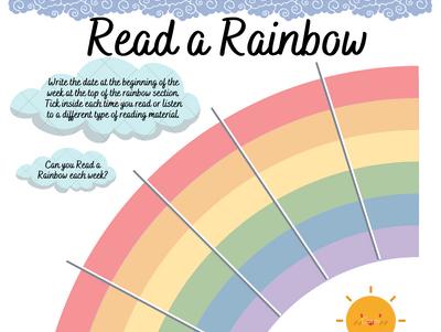 Read a Rainbow Reading Tracker Half Term