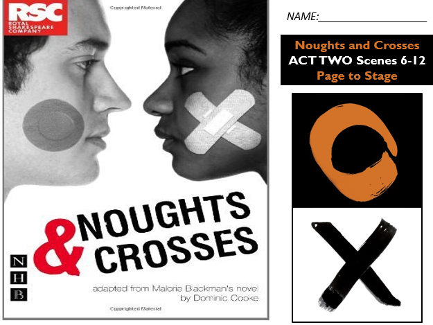 GCSE Drama Home Learning Noughts and Crosses Act Two S6-12 AQA