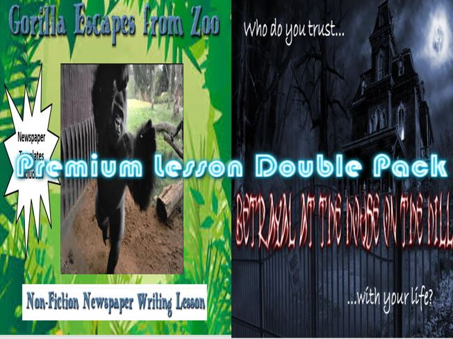 Premium Lesson Double Pack - Betrayal on House on the Hill/Gorilla Escapes from Zoo, Non-Fiction