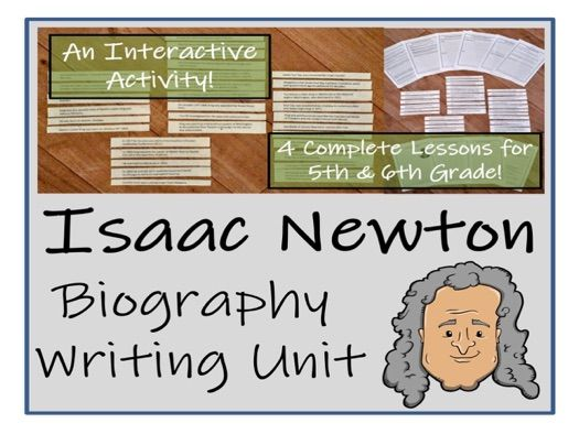 UKS2 Literacy - Isaac Newton Biography Writing Unit