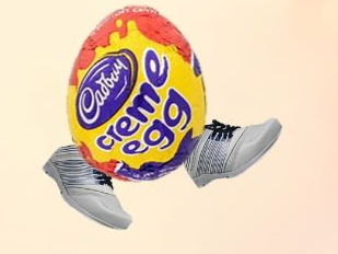 Creme egg crazy Easter quiz. Halving and doubling