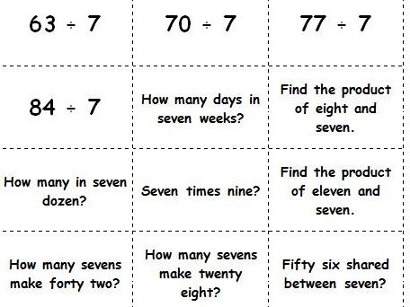 Y3 Y4 Y5 Y6 Times Tables Flip Cards        multiplication and division facts  to 12 × 12.