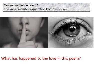 Poetry - Love and Relationships Revision
