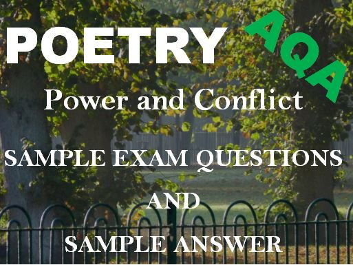 Power and Conflict Poetry - Sample Exam Questions - Revision Answer:'Bayonet Charge' and 'Remains'