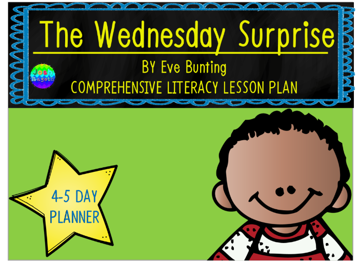 The Wednesday Surprise by Eve Bunting 4-5 Day Lesson Plan