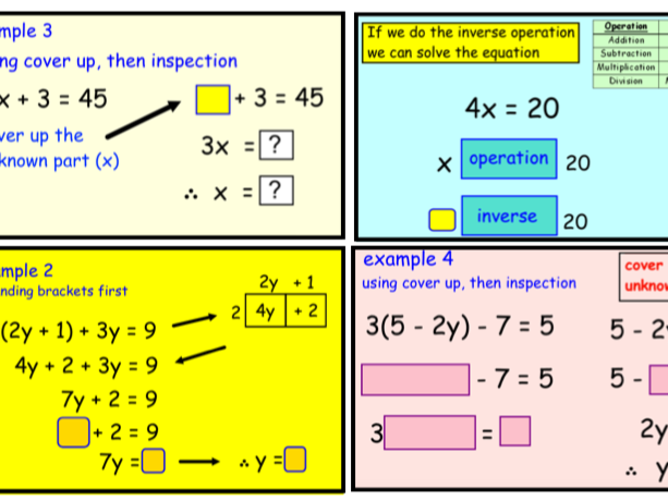 Solving Equations Using Different Methods (notebook)