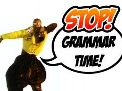 Grammar rap stars - present tense