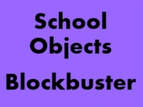 School Objects Blockbuster for Smartboard