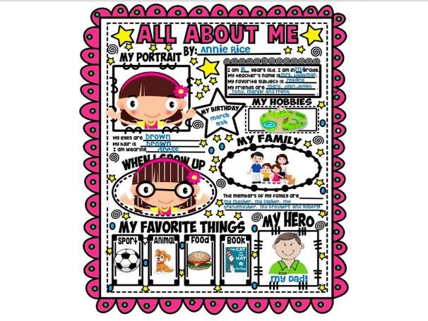 BACK TO SCHOOL ACTIVITIES ★ POSTER ALL ABOUT ME ★ FREE PRINTABLES