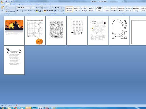 KS2 Halloween activity booklet