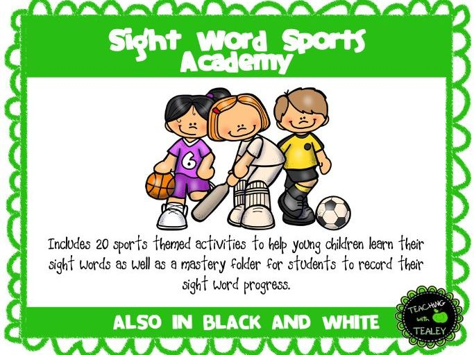 Sight Word Sports Academy