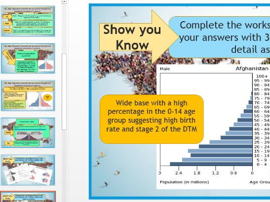 AQA GCSE 9-1: Changing Population Structure and Population Pyramids.