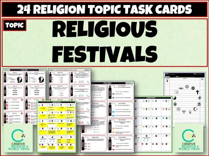 Religious Festivals Task Cards