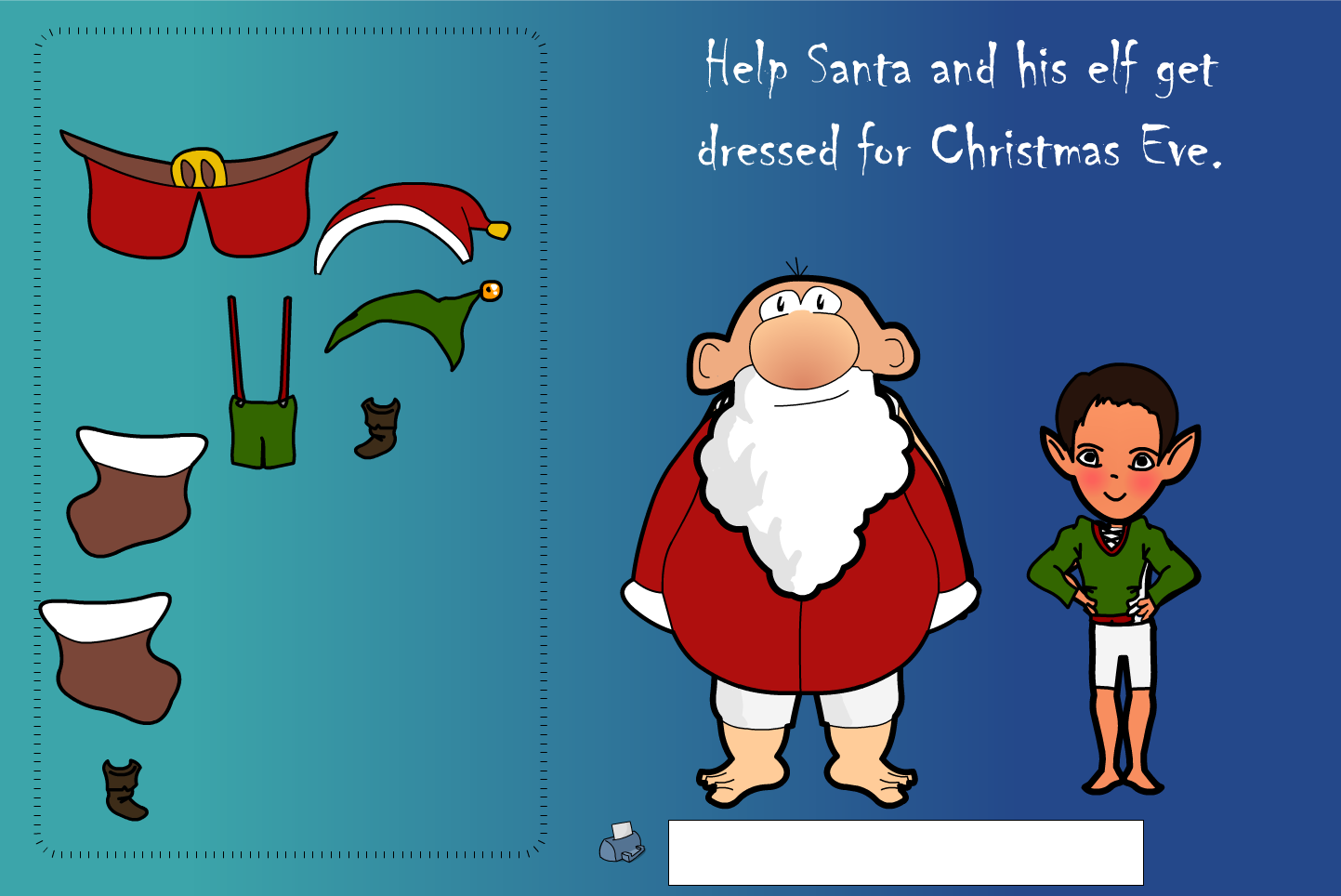 Dress Santa Interactive Activity - Christmas KS1