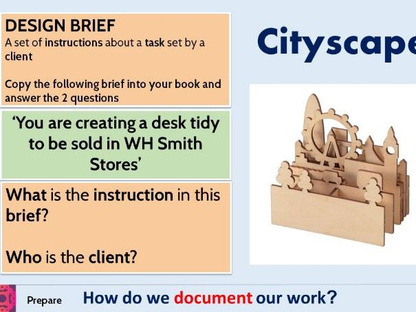 Desk Tidy Scheme of Work Introduction to workshop, material theory and production SOW