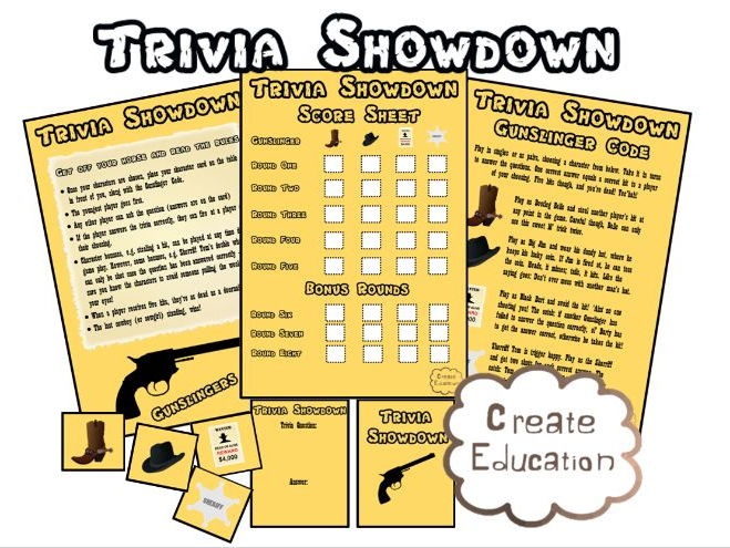 Trivia Shootout Education Game and Quiz for your Adaptation!