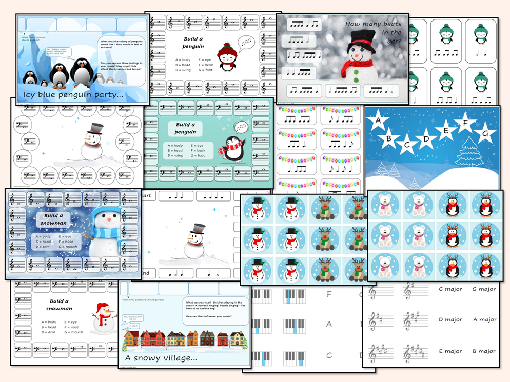 Christmas Music Games and Resources Bundle