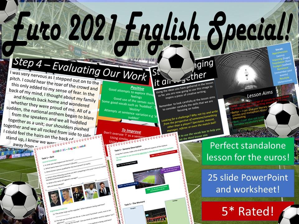 Euro 2020 (2021) English Creative Writing & Quiz