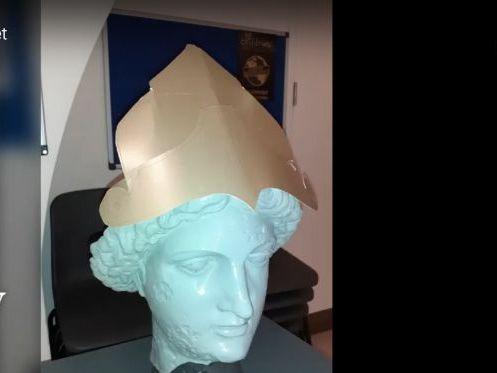 Make a Roman Helmet for Minerva