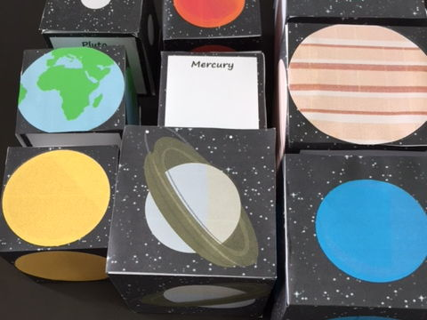 3D Planets (and Pluto) of the Solar System