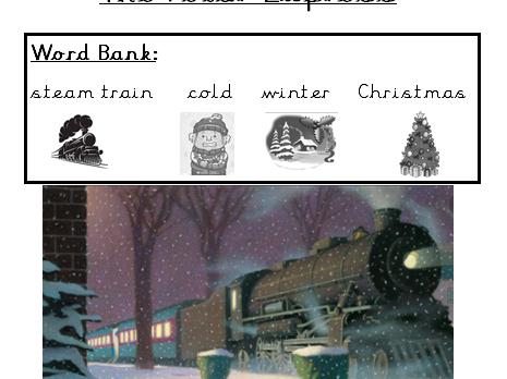 Polar express writing word banks