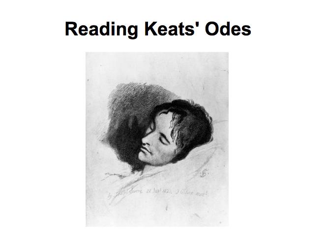 John Keats Unit of Work PPT