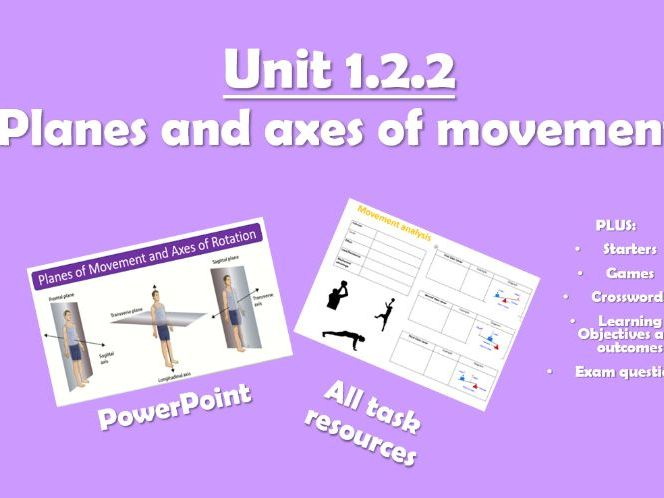 AQA GCSE PE (2016) 1.2.2 Axes and Planes of Movement - Unit of Work