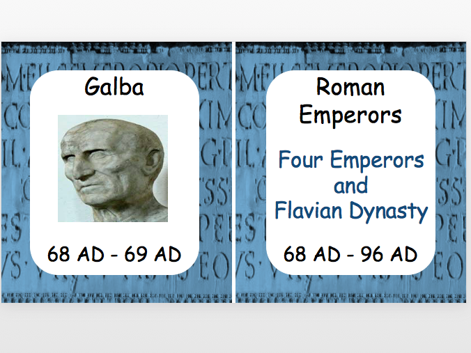 Roman Emperors: Four Emperors and Flavian Dynasty