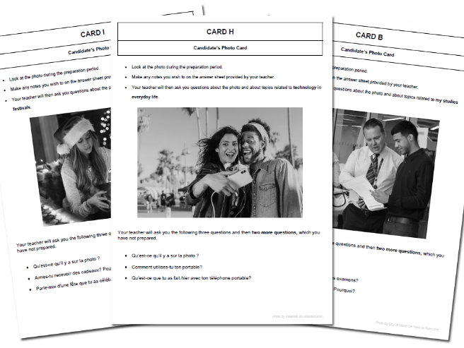 120 High Quality French GCSE Photocards for AQA