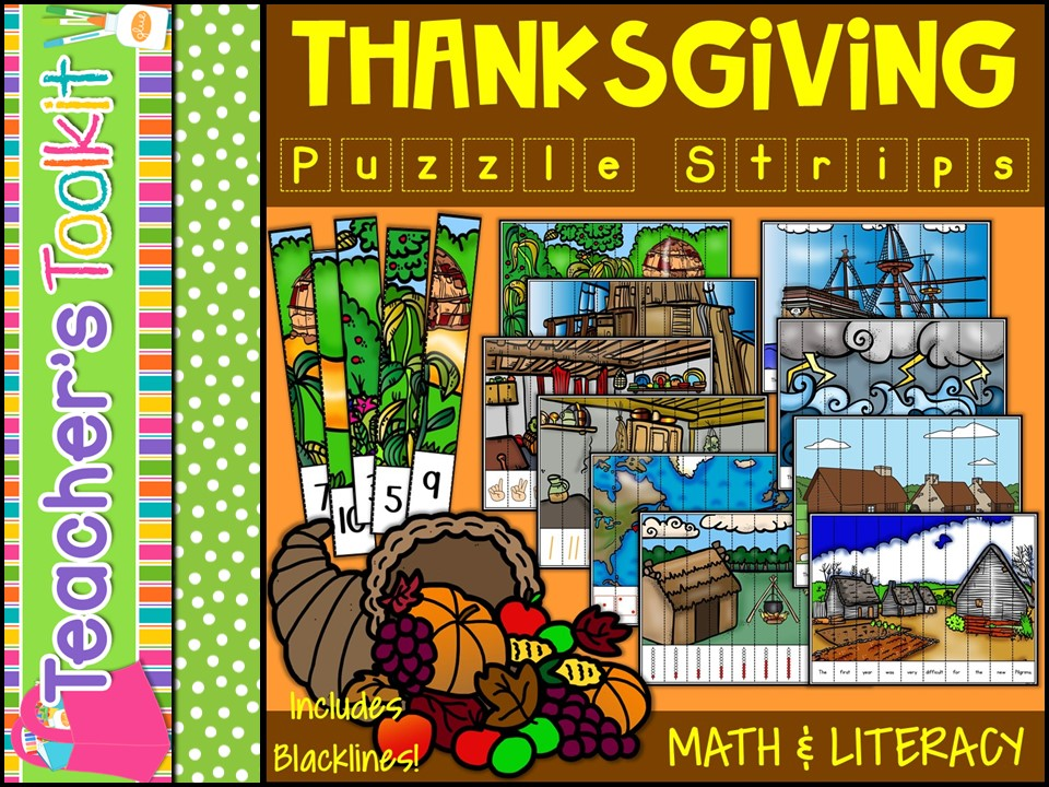 Thanksgiving Puzzle Strips {US}
