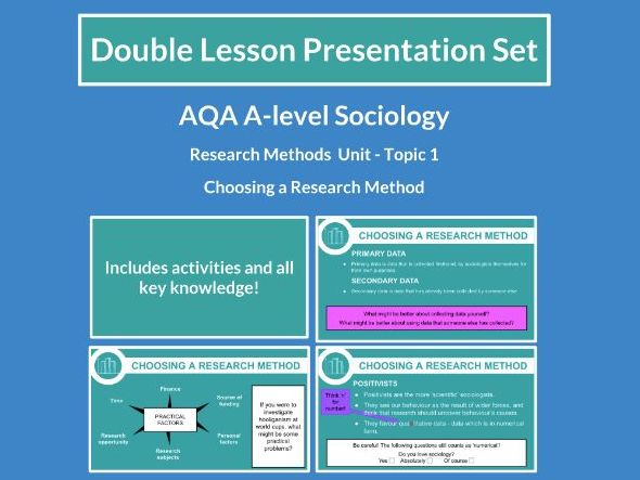 Choosing a Research Method - AQA A-level Sociology - Research Methods - Topic 1