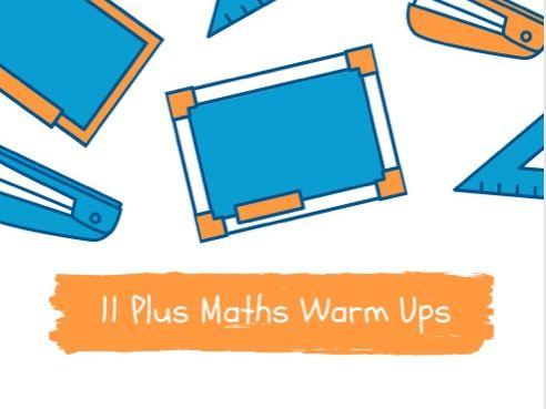 11 Plus Maths Warm Ups