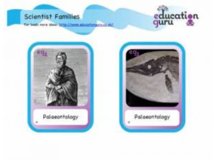 Scientist Families card game Pack 1