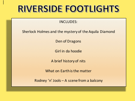 Riverside footlights - End of year comic review