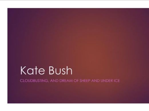 Analysis of Hounds of Love - Kate Bush