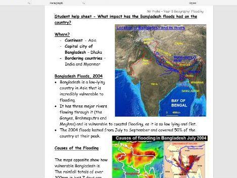 Bangladesh Floods DME Lesson