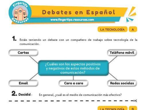 Technología - Debates in Spanish