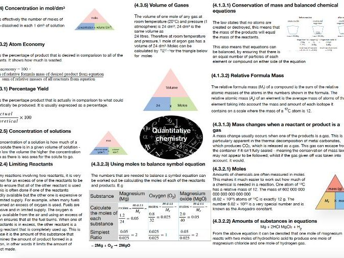 AQA Chemistry GCSE - Quantitative Chemistry