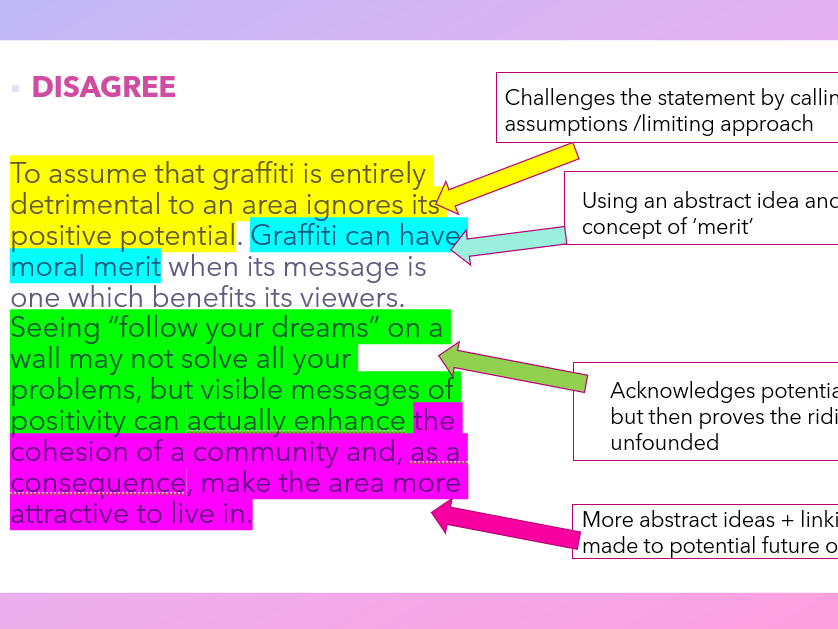 Writing to Argue - Developing Complex Ideas