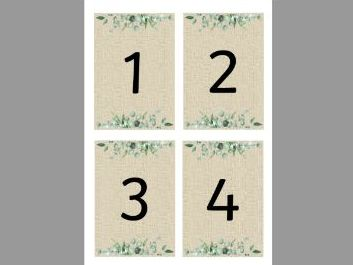 0-100 Number Flashcards (Natural Themed)