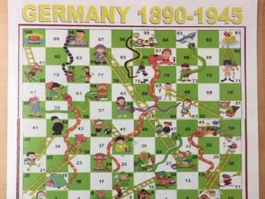 AQA GCSE History Germany 1890-1945 Snakes + Ladders Revision Game