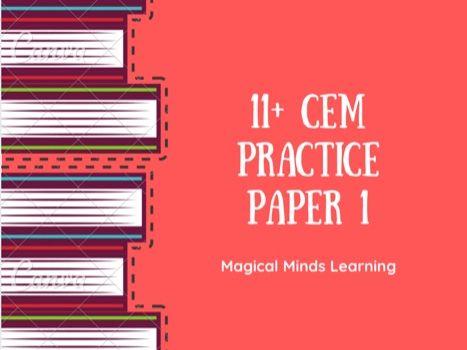2021 11+ CEM Practice Paper