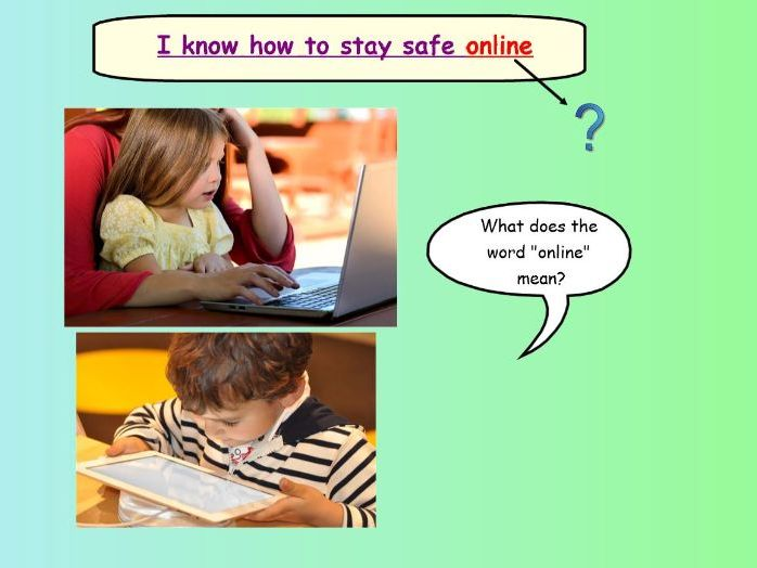 Internet Saftey lesson