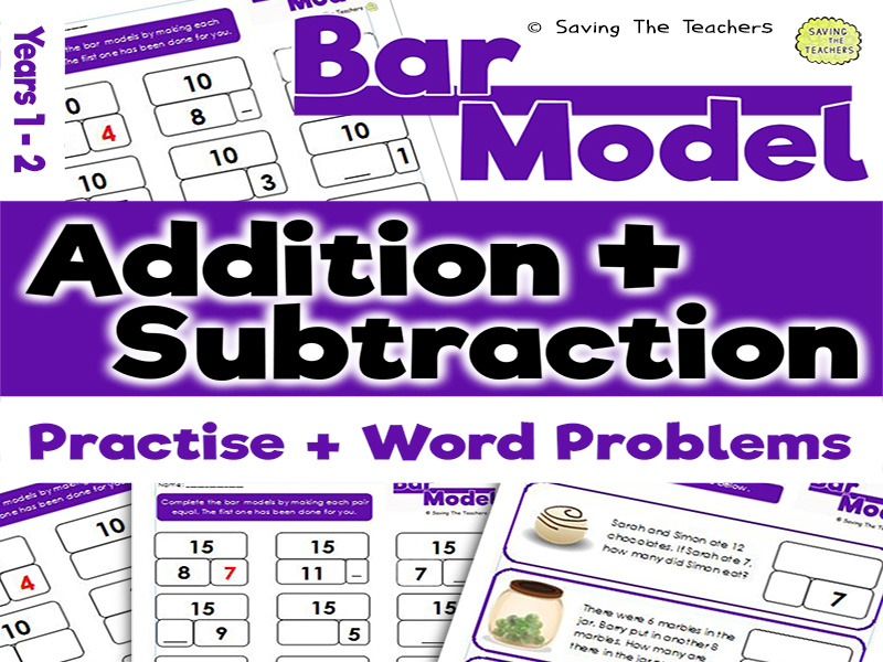 Bar Model Addition and Subtraction: Years 1 - 2