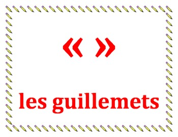 Punctuation in French Posters