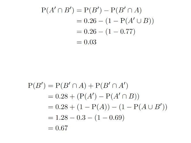 Elementary Probability Questions (Algebraic solutions)