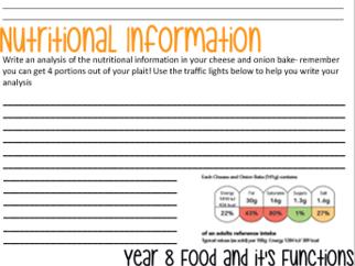 Year 8 Food functional properties