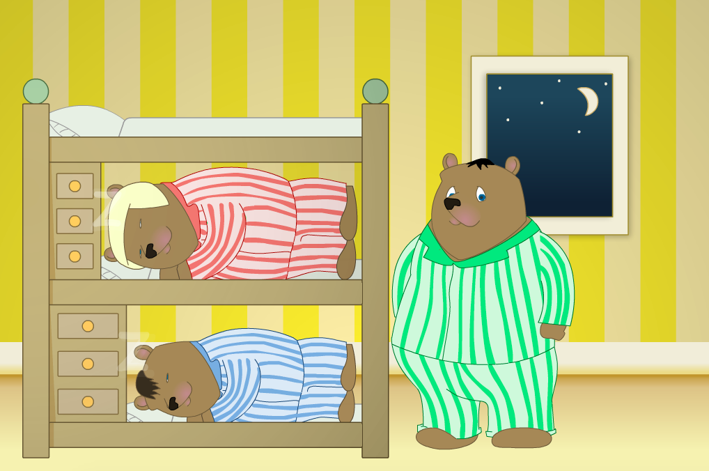 Three Bears at Bedtime Interactive Activity - KS1 Measurement